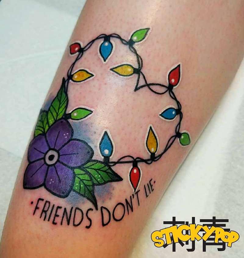 Stranger Things Tattoo by Matt Daniels