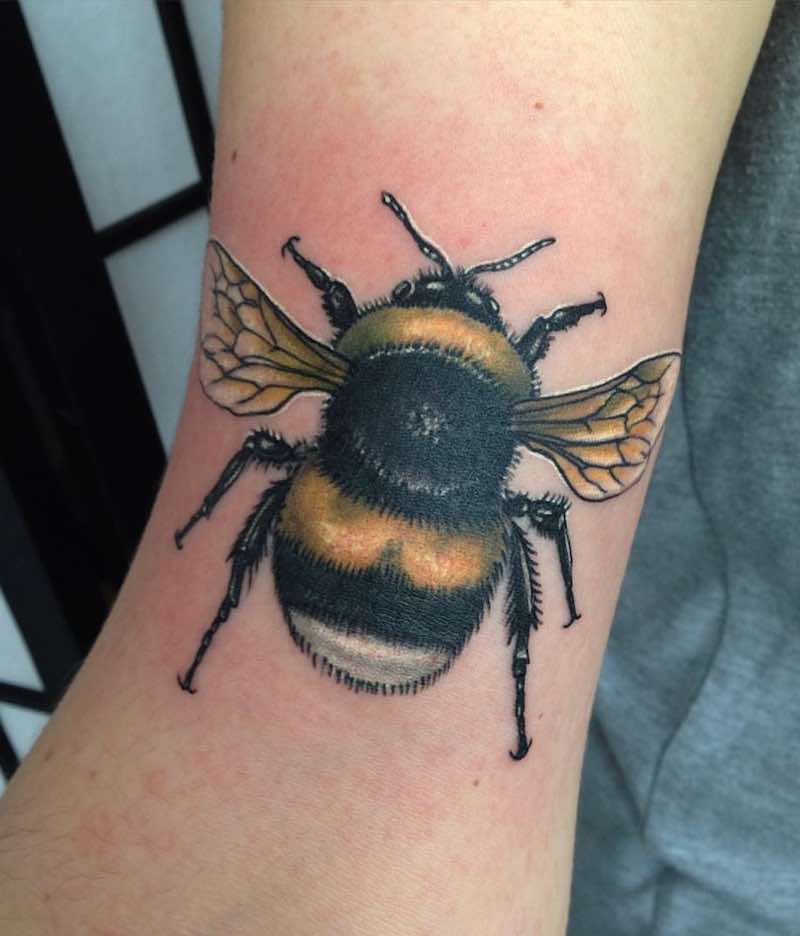 Bee Tattoo 2 by Brent Goudie