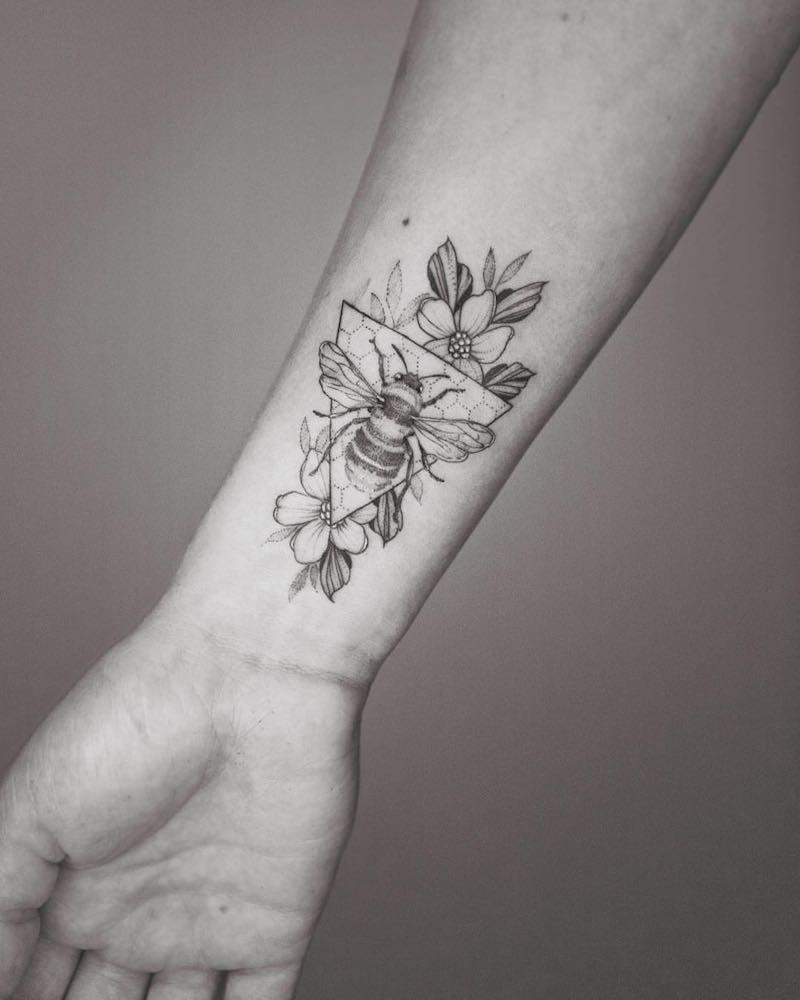 Bee Tattoo 2 by Phoebe Hunter