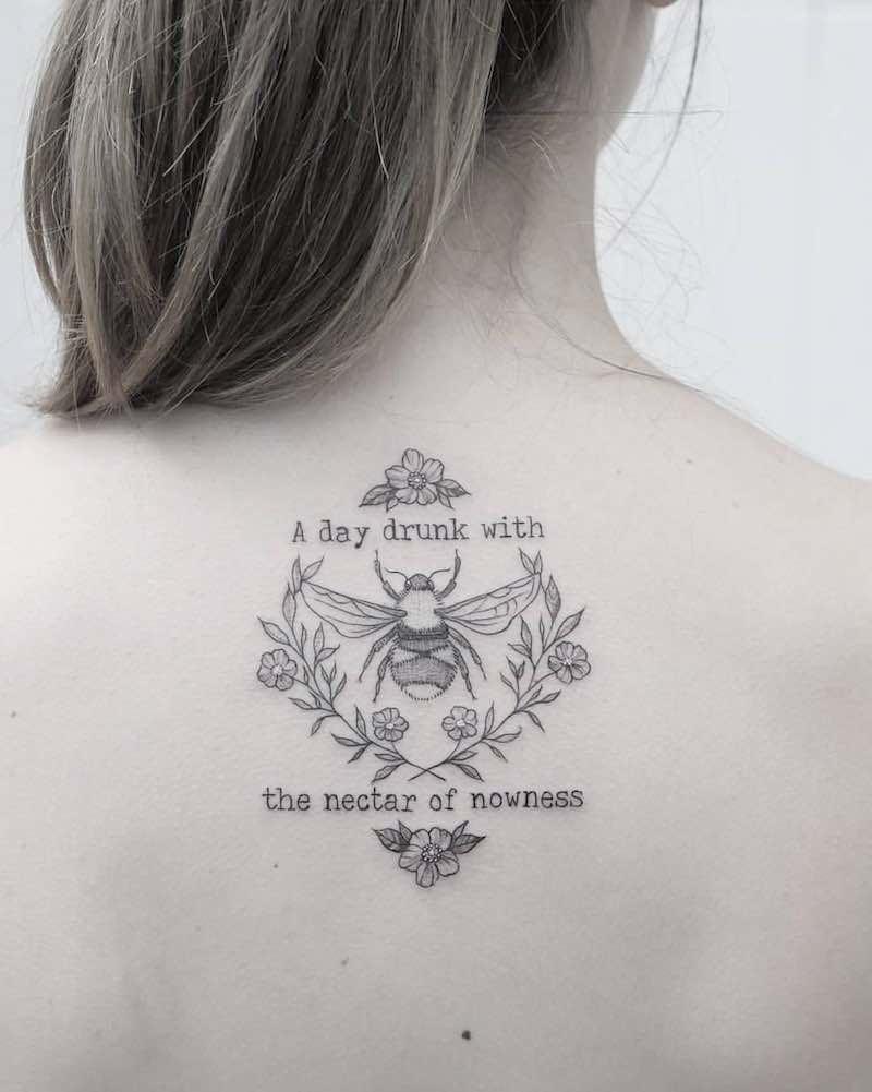 Bee Tattoo 3 by Phoebe Hunter