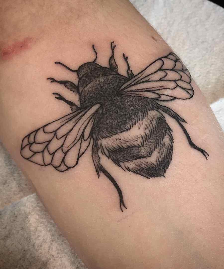 Bee Tattoo 3 by Raine Knight
