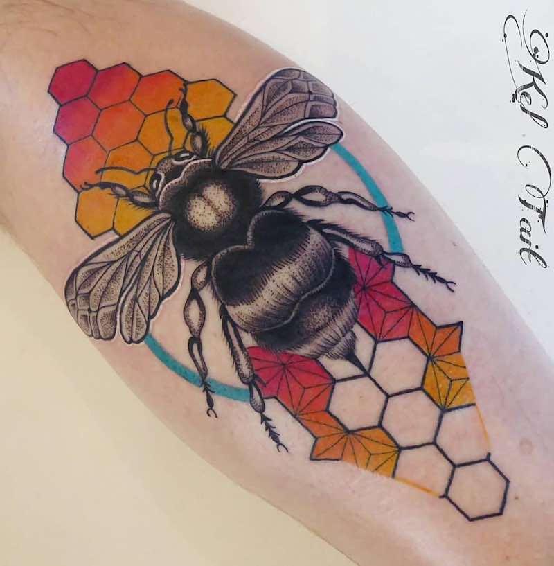 Bee Tattoo by Dean Kalcoff