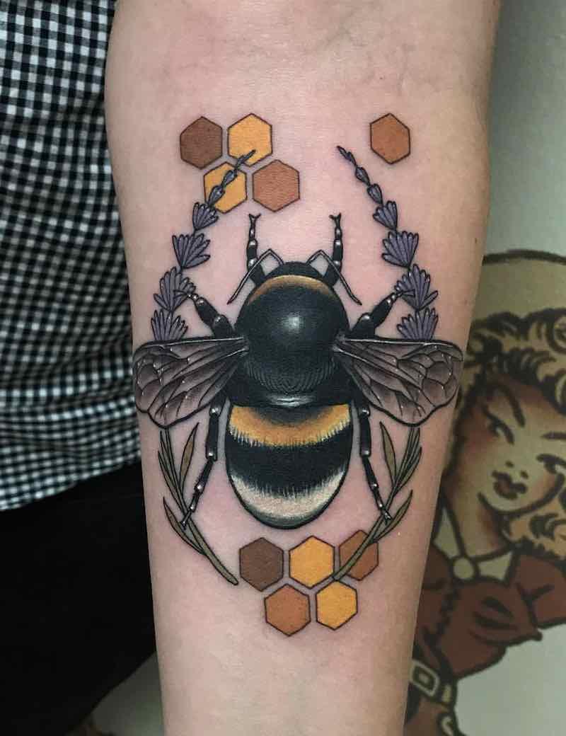 Bee Tattoo by Drew Shallis