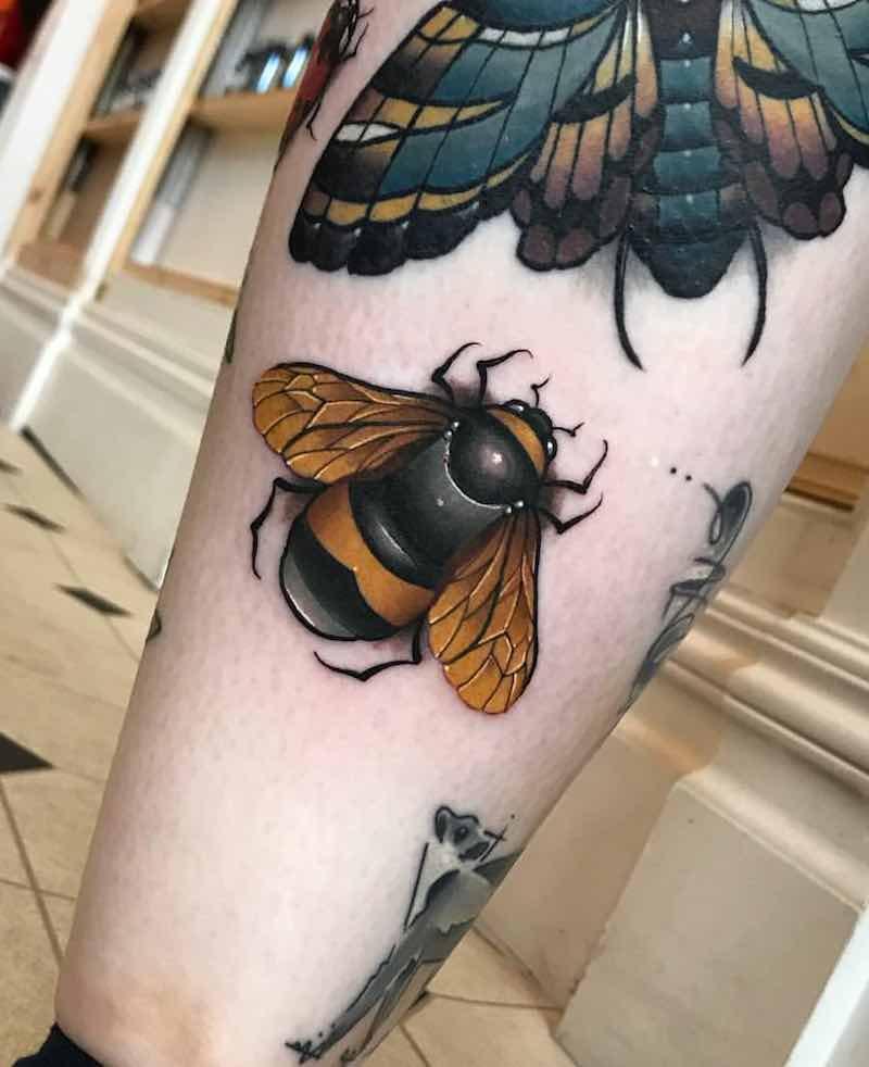 Bee Tattoo by Fraser Peek