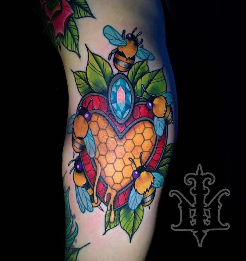 Bee Tattoo by Jon Leighton
