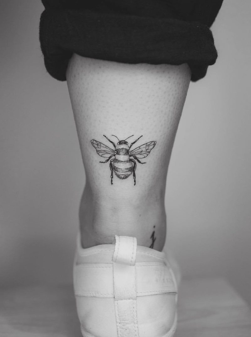 Bee Tattoo by Phoebe Hunter
