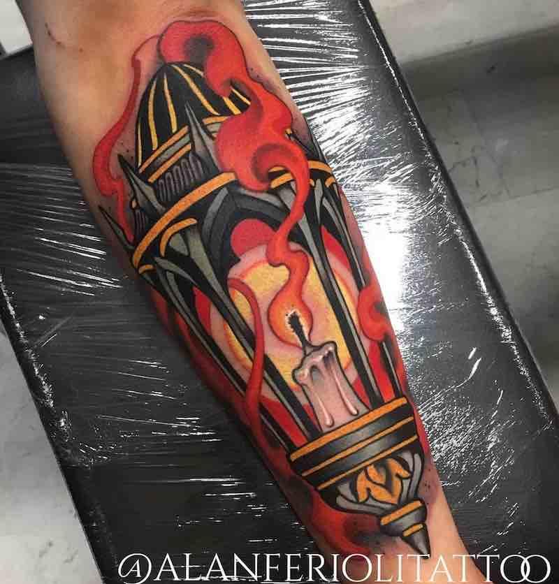 Lantern Tattoo 2 by Alan Ferioli