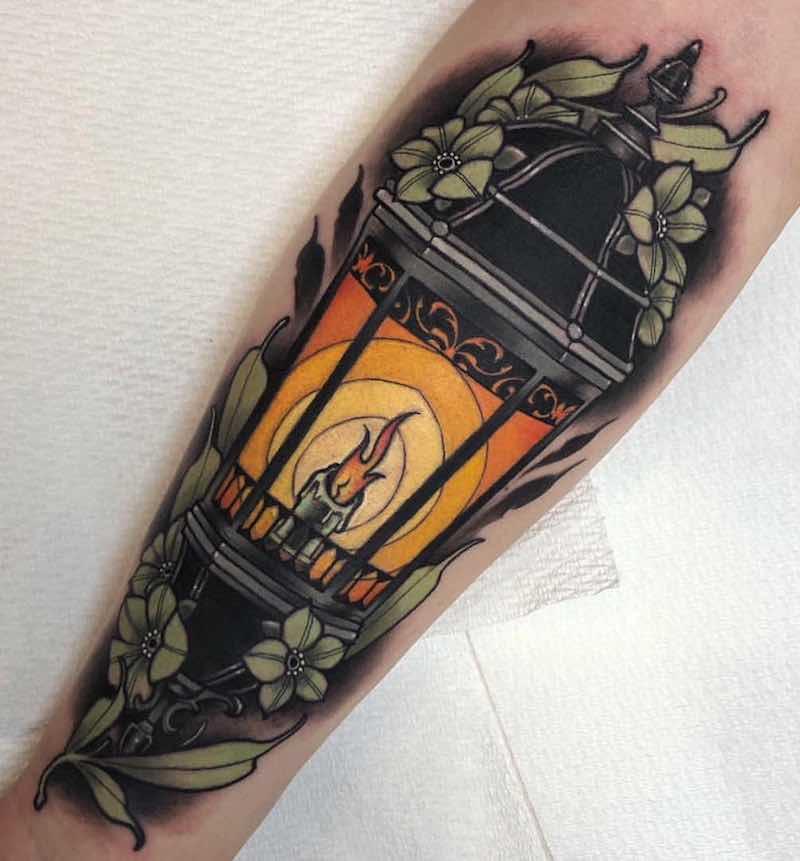 Lantern Tattoo 2 by Anthony Barros Castro