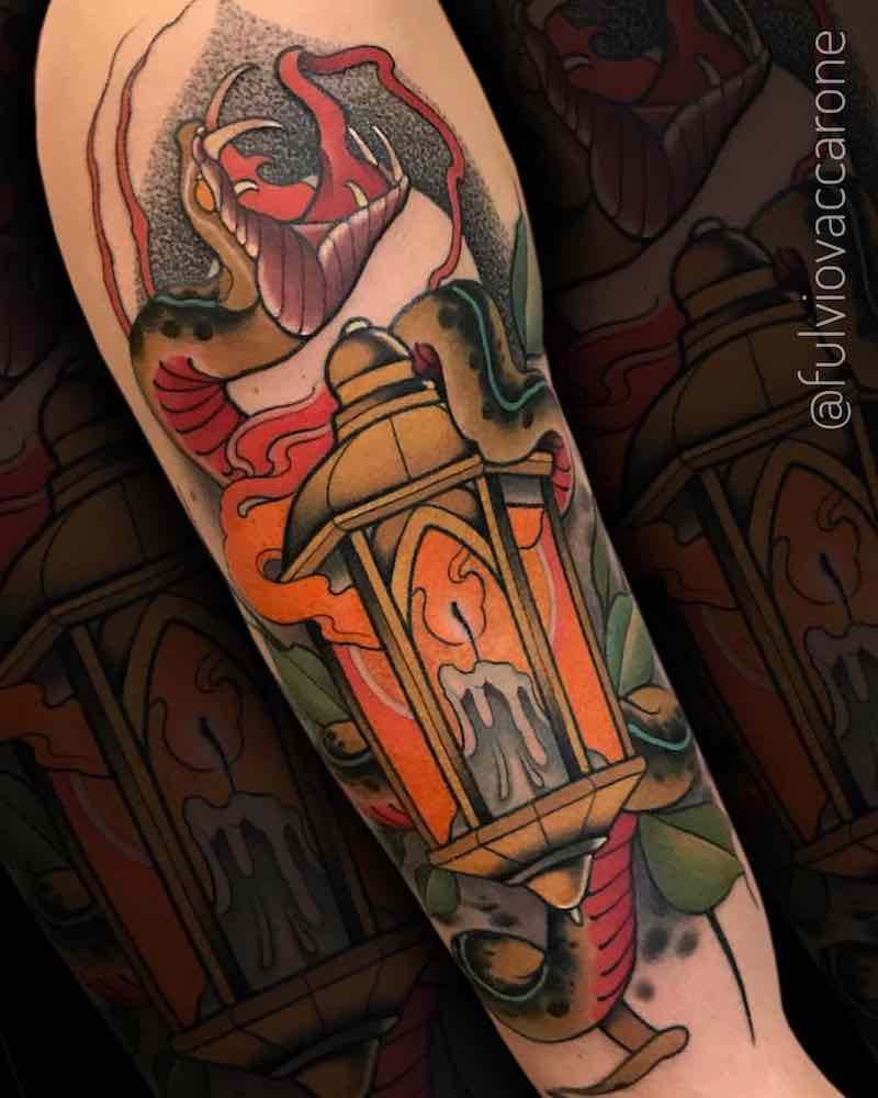 Lantern Tattoo 2 by Fulvio Vaccarone