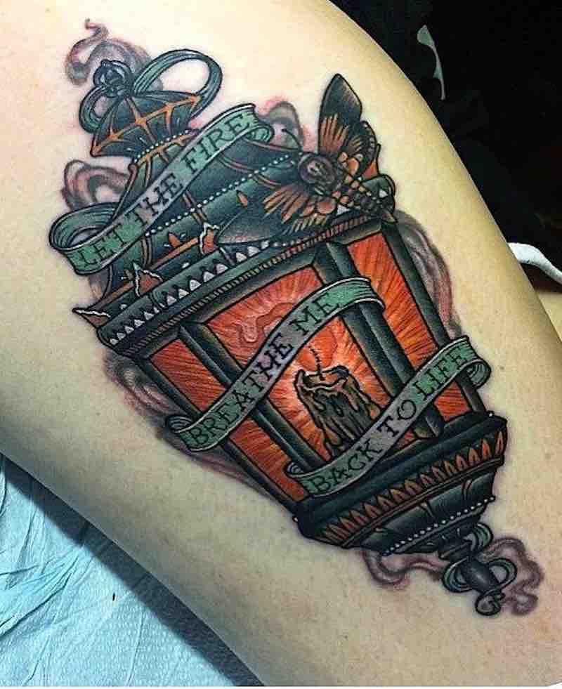 Lantern Tattoo 2 by Jeremy Sloo