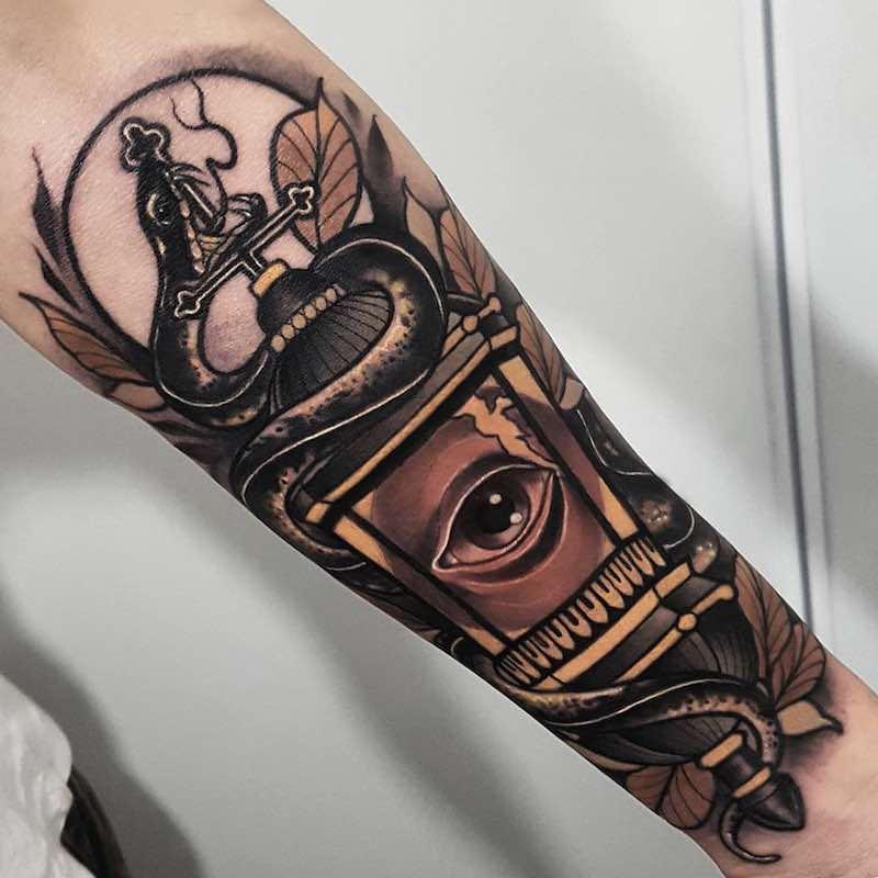 Lantern Tattoo 3 by Anthony Barros Castro