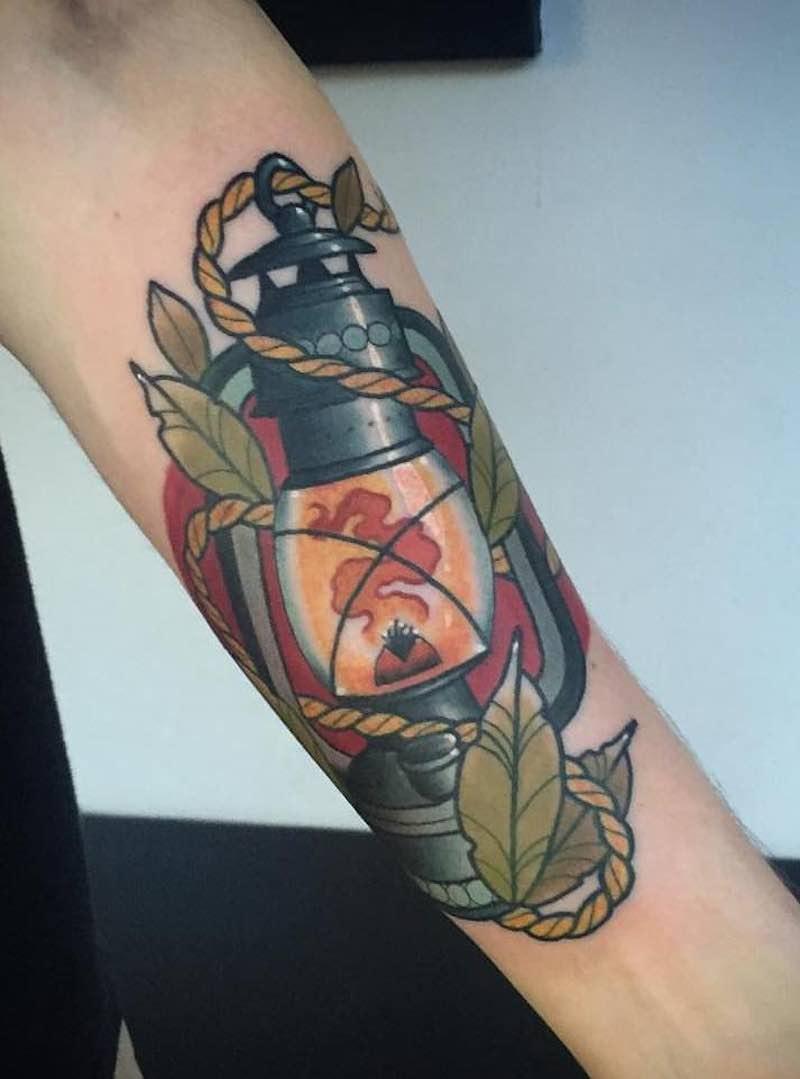 Lantern Tattoo 5 by Fraser Peek