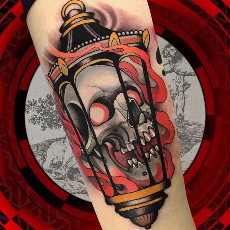 Lantern Tattoo by Alan Ferioli