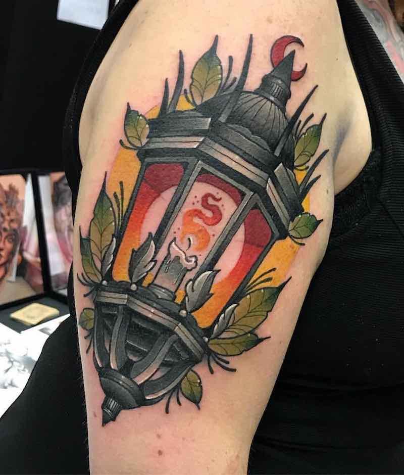 Lantern Tattoo by Fraser Peek