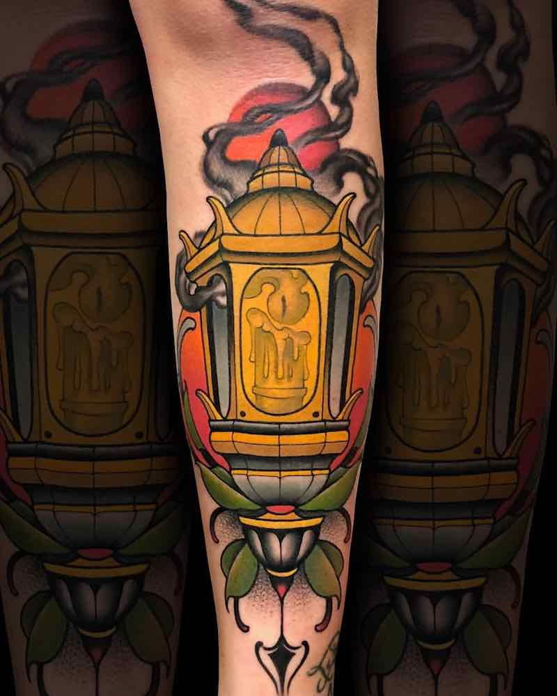 Lantern Tattoo by Fulvio Vaccarone