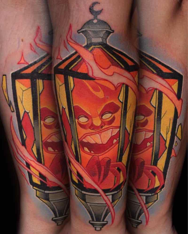 Lantern Tattoo by Lehel