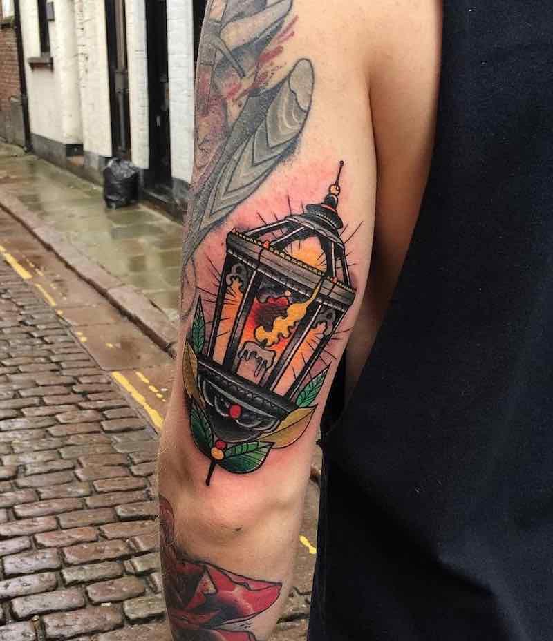 Lantern Tattoo by Matt Webb