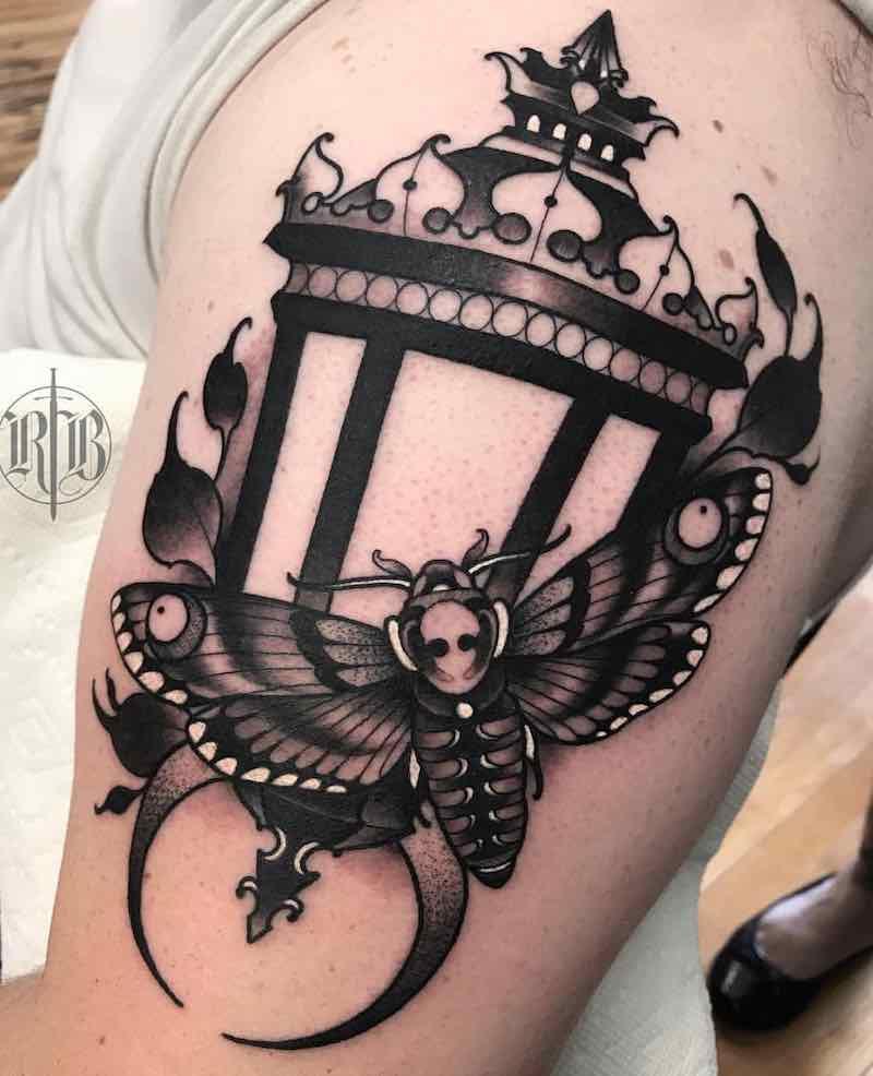Lantern Tattoo by RB Tattoo