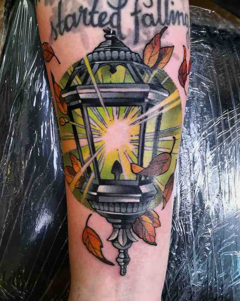 Lantern Tattoo by Sonny Superglue