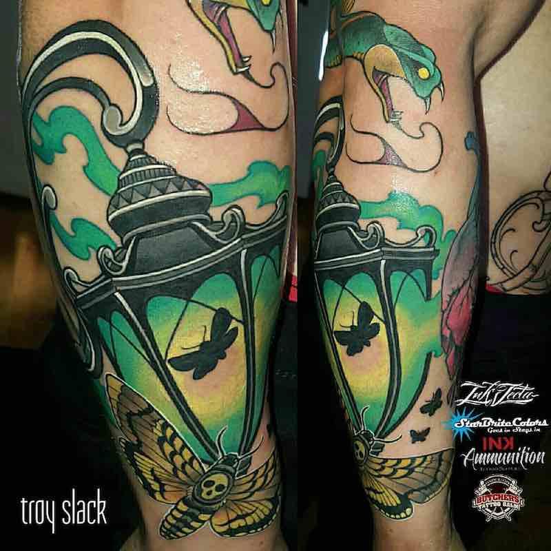 Lantern Tattoo by Troy Slack