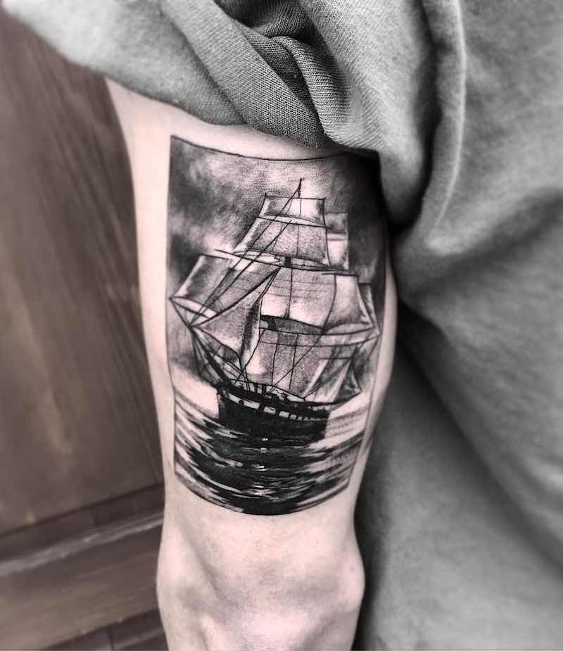 Ship Tattoo 2 by Daniel Paarup