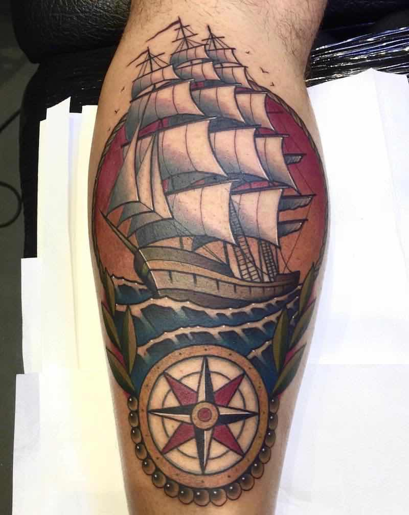 Ship Tattoo 2 by Fraser Peek
