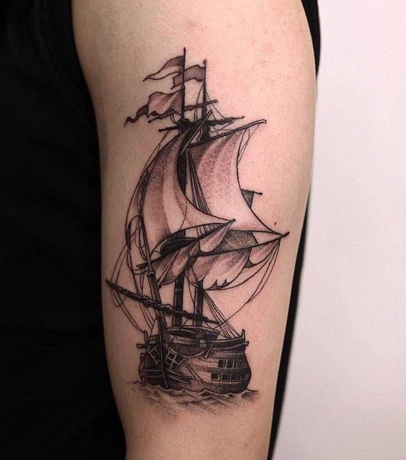 Ship Tattoo 2 by Zeal Tattoo