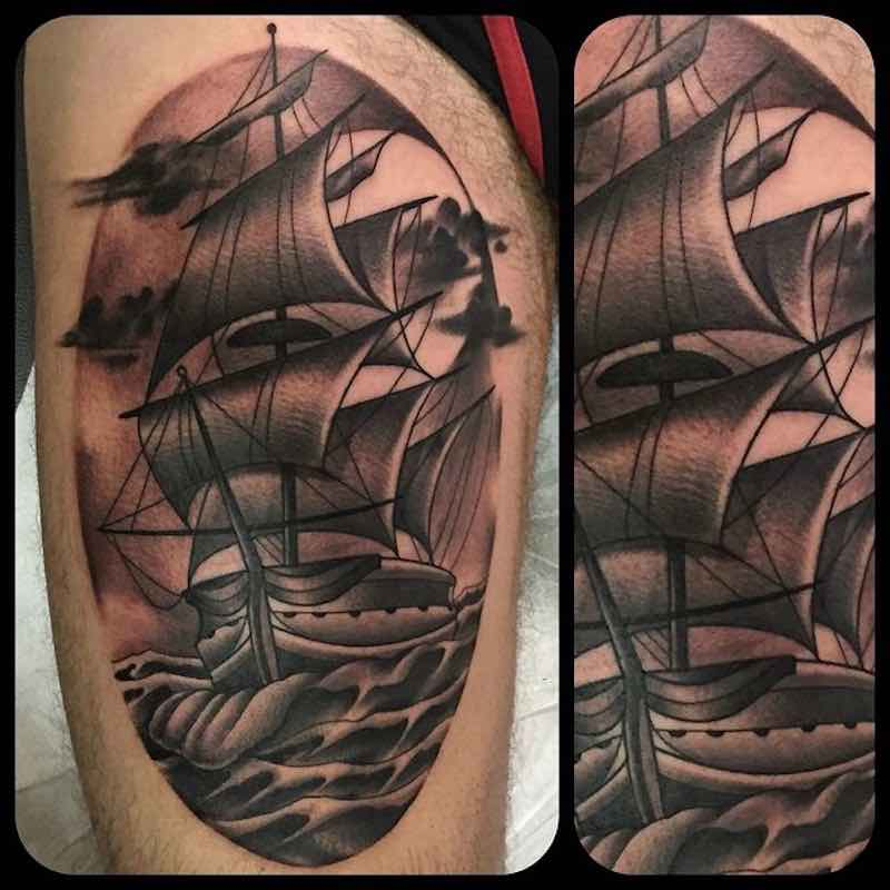 Ship Tattoo 3 by Fulvio Vaccarone
