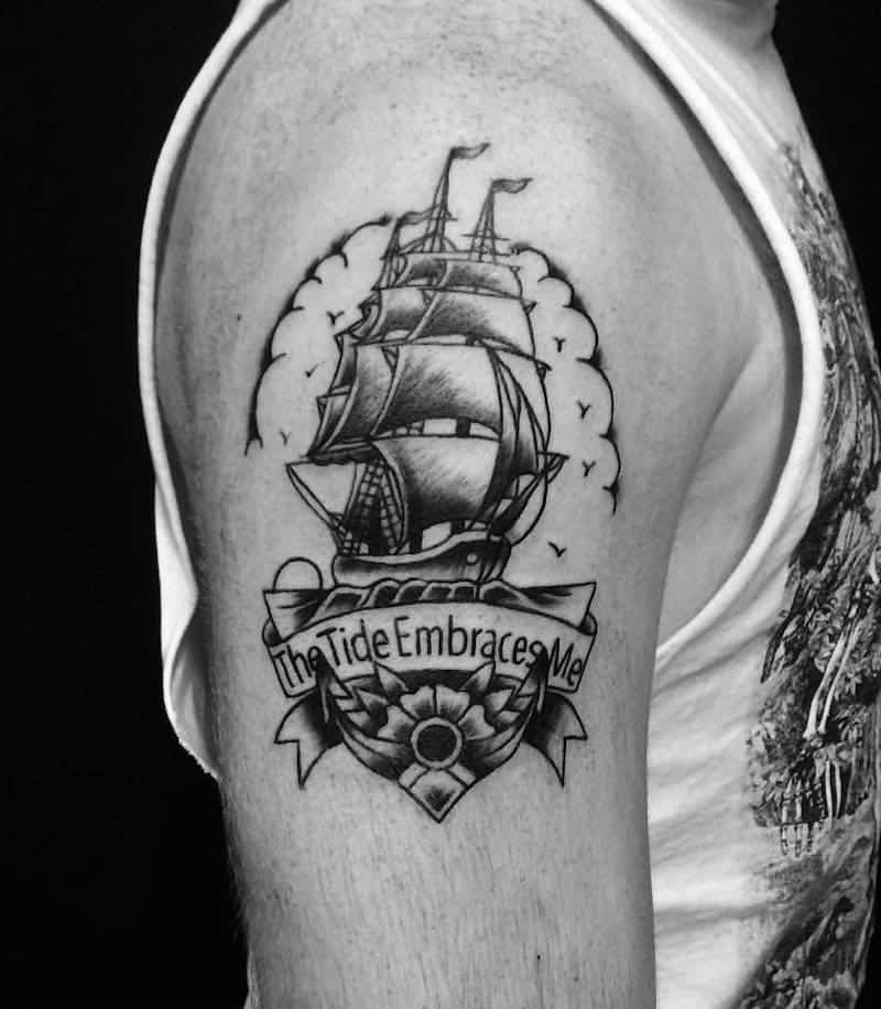 Ship Tattoo by Alexandyr Valentine