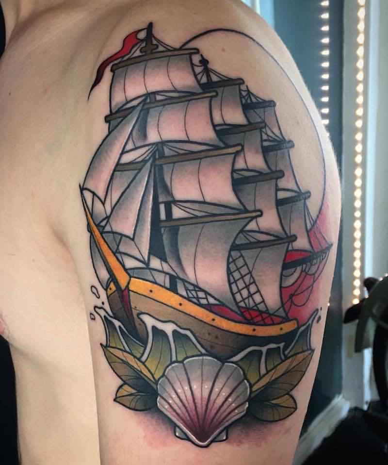 Ship Tattoo by Alvaro Alonso