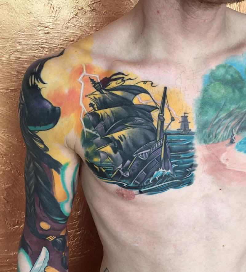 Ship Tattoo by Branden Noetzel