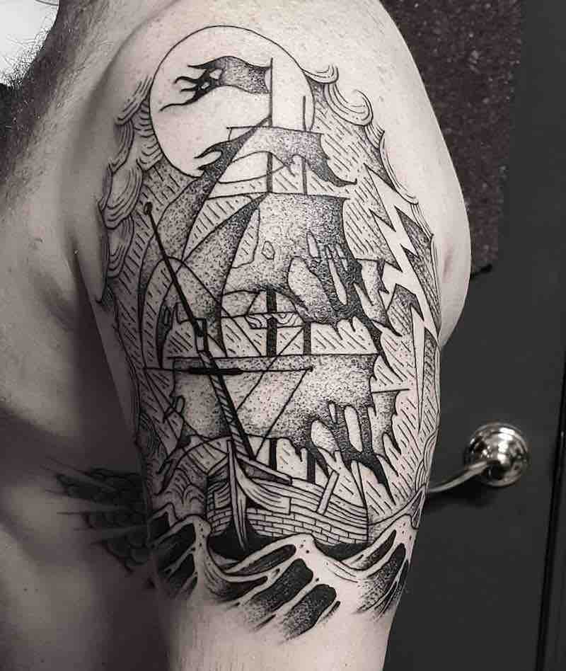 Ship Tattoo by Cutty Bage