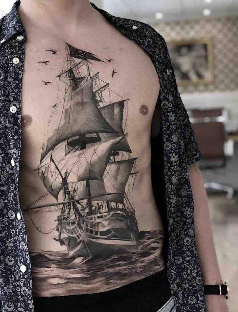 Ship Tattoo by Daniel Paarup