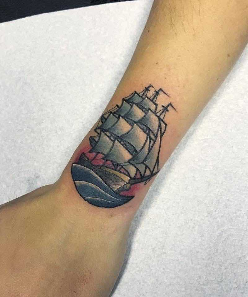Ship Tattoo by Fraser Peek