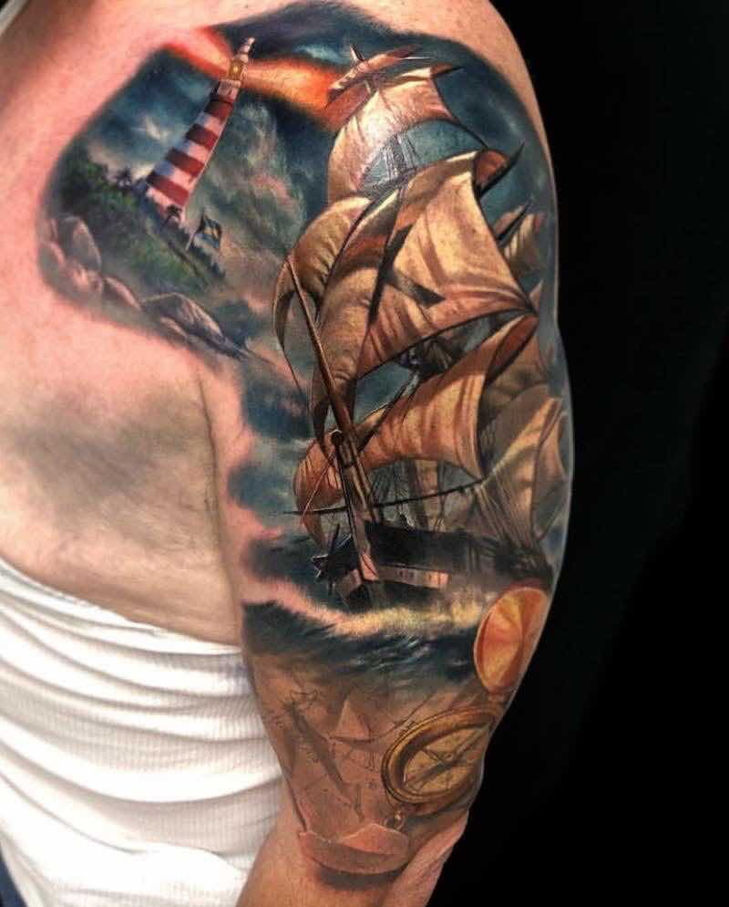 Ship Tattoo by Jesse Rix