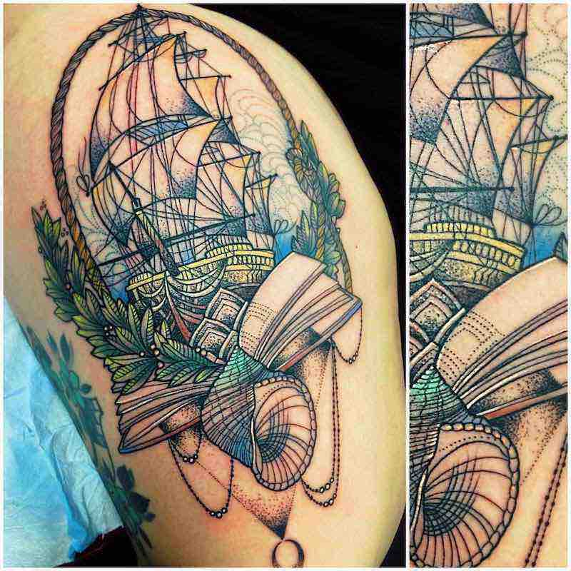 Ship Tattoo by Katie Shocrylas