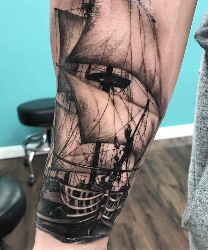 Ship Tattoo by Kyle Cotterman