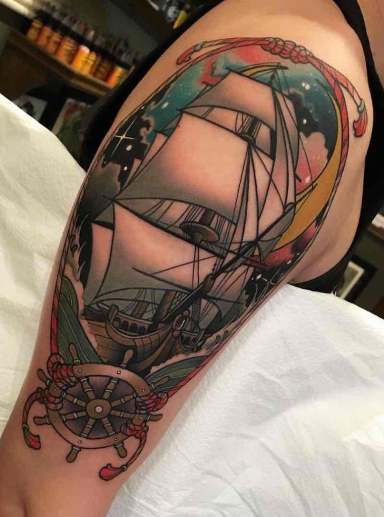 Ship Tattoo by Tiffer Wright