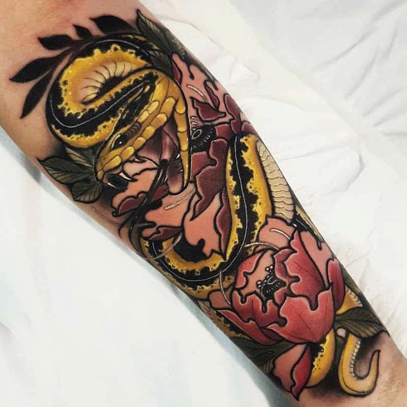 Snake Tattoo by Anthony Barros Castro