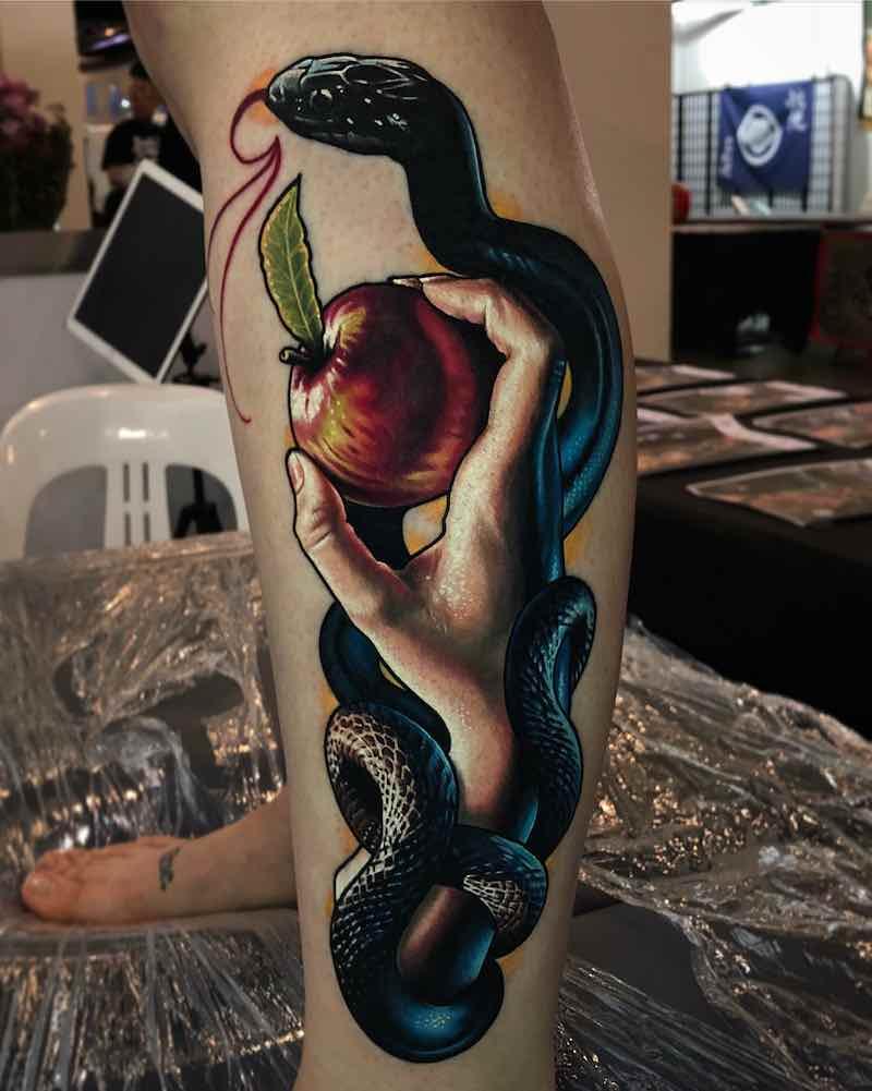Snake Tattoo by Ben Kaye