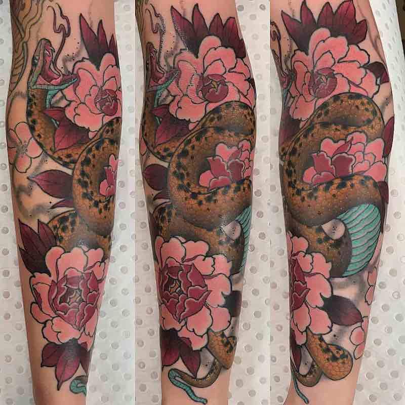 Snake Tattoo by Drew Shallis