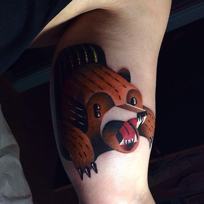 Bear Tattoo 2 by David Peyote