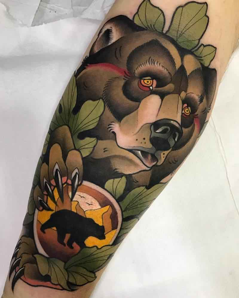 Bear Tattoo by Alvaro Alonso