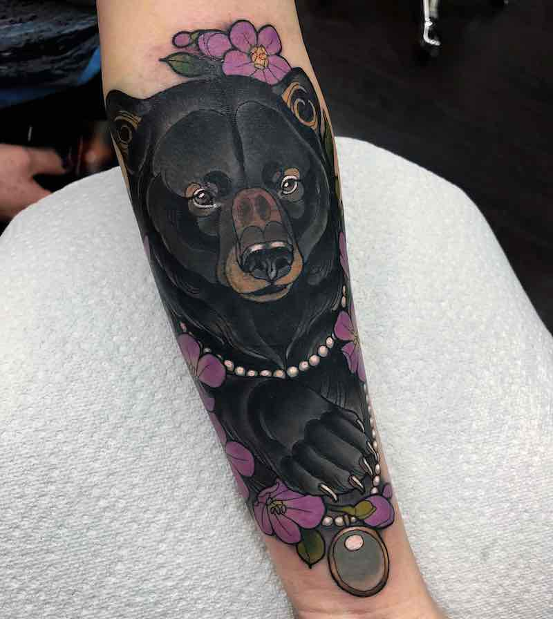 Bear Tattoo by Arielle Gagnon