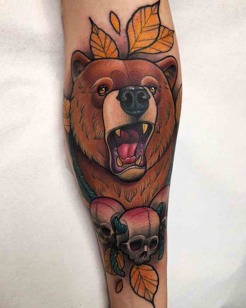 Bear Tattoo by Krish Trece