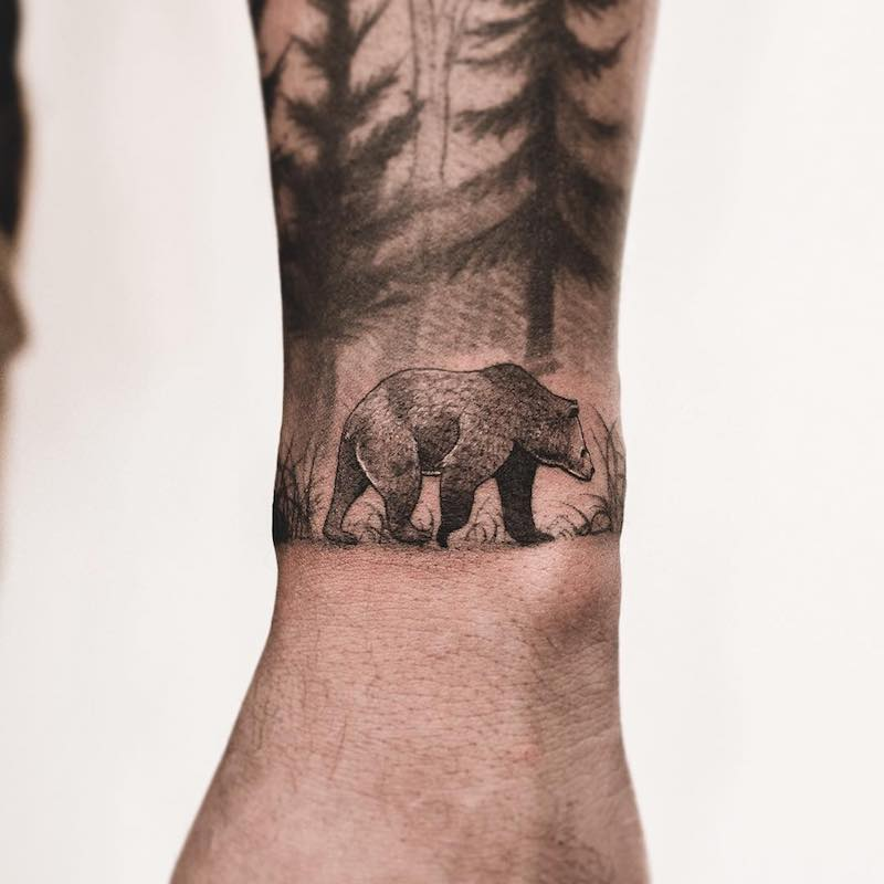 Bear Tattoo by Lesheer