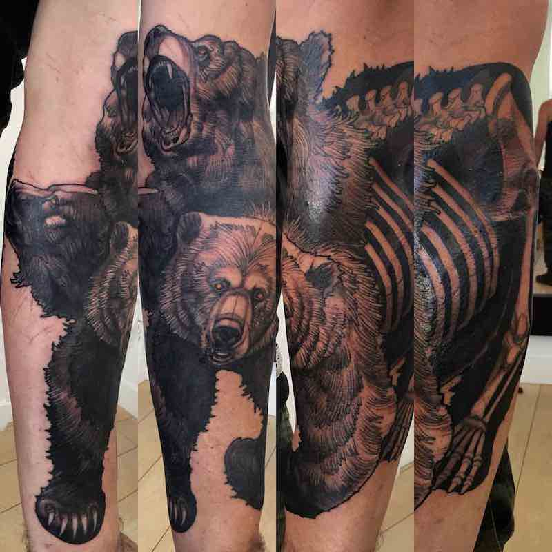 Bear Tattoo by Steve Moore