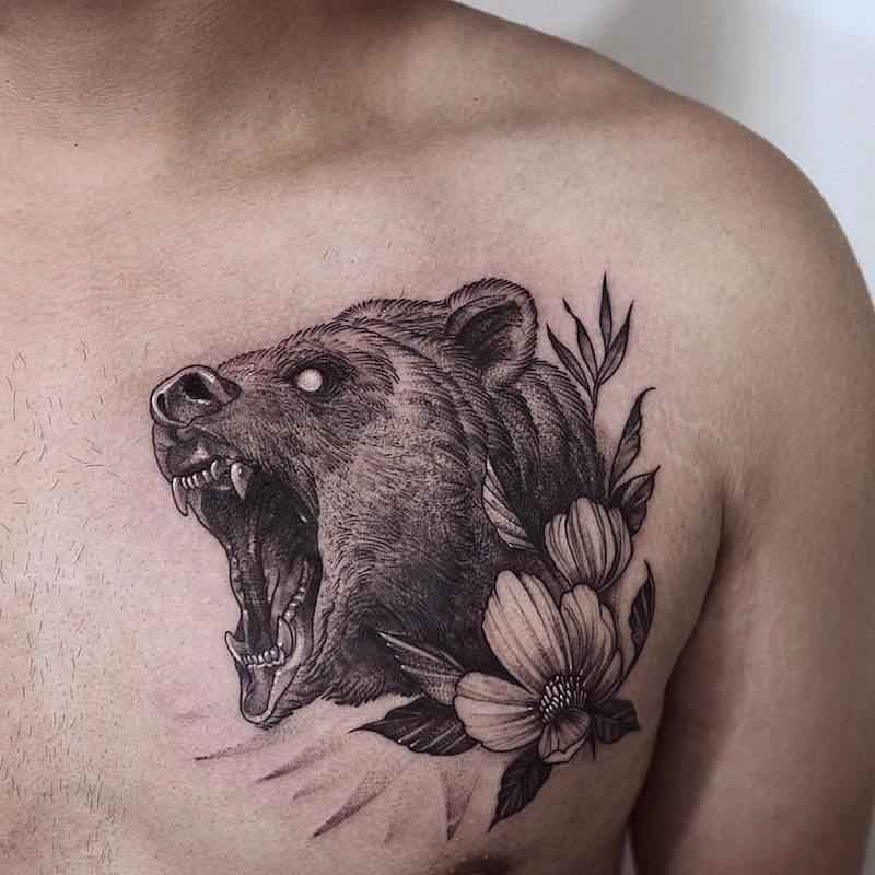 Bear Tattoo by Zeal Tattoo