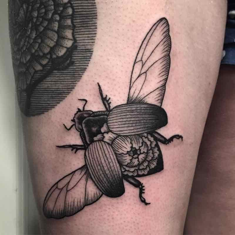 Beetle Tattoo by Jack Ankersen