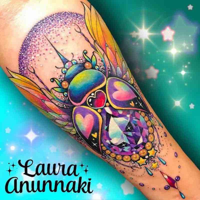 Beetle Tattoo by Laura Anunnaki